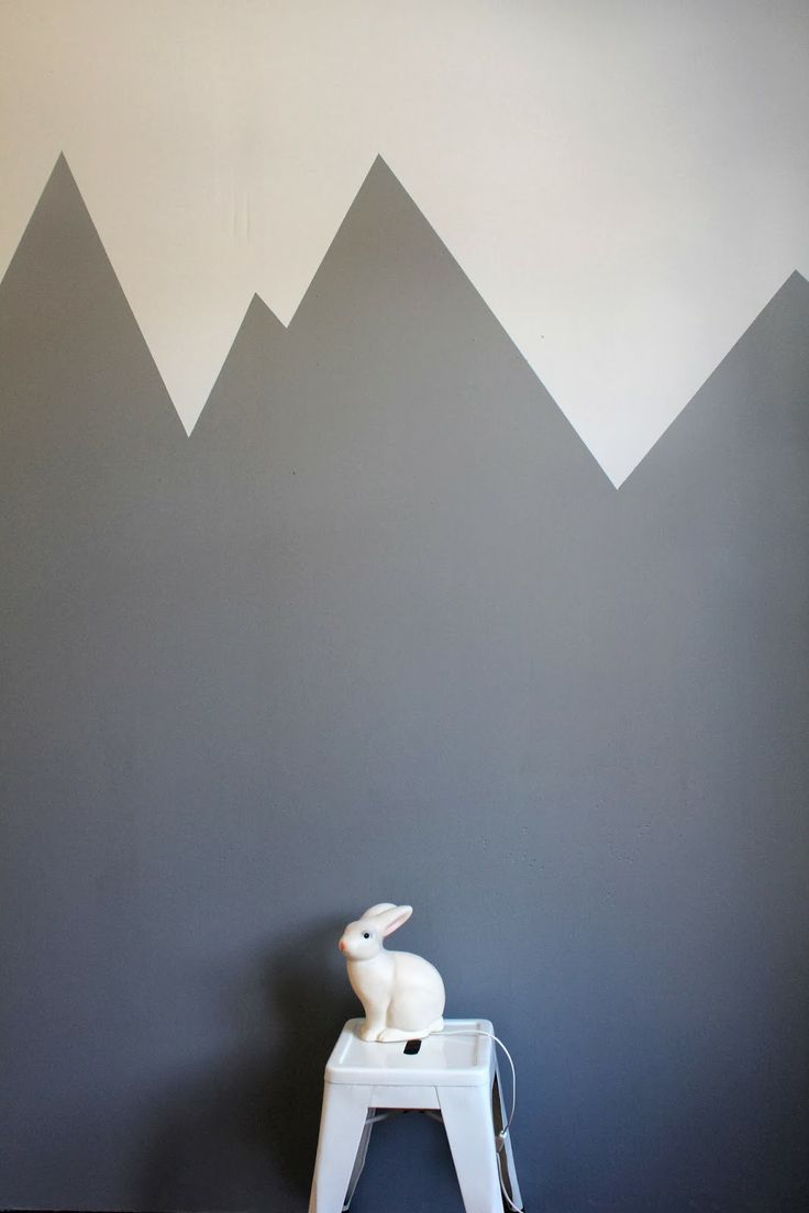 Painted mountains on wall kids room  Syrinveien 3My Interior  Pinterest  Graphics I am and