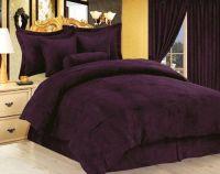 Purple Comforter | ... Purple Micro Suede Duvet Cover Set ...