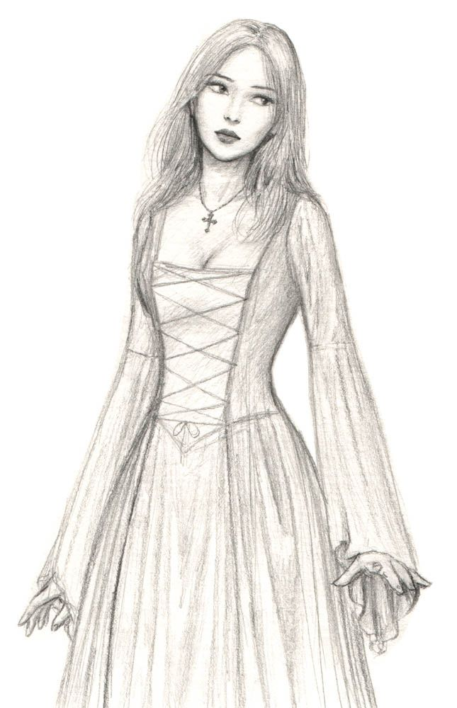 Medieval maid, by dashinvaine on deviantART. I like the