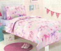twin bedding set horses | Pony Park Horses Pink Girls ...