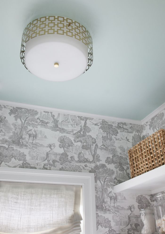 Ceiling painted with Sherwin Williams Breaktime Fantastic