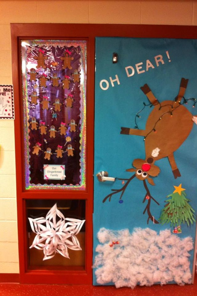 Cute classroom door idea Oh Dear Christmas is almost here  Christmas  Pinterest  Doors