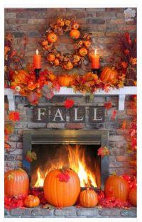 Fall fireplace | Harvest! | Pinterest | Pumpkins, The o ...