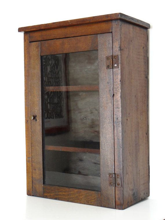 Antique apothecary cabinet or medicine cabinet wall