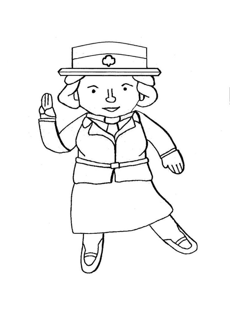17 Best images about Girl Scout Coloring Pages! on