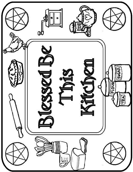 wiccan coloring pages printable  bos / book of shadows