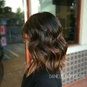 toffee balayage textured midength