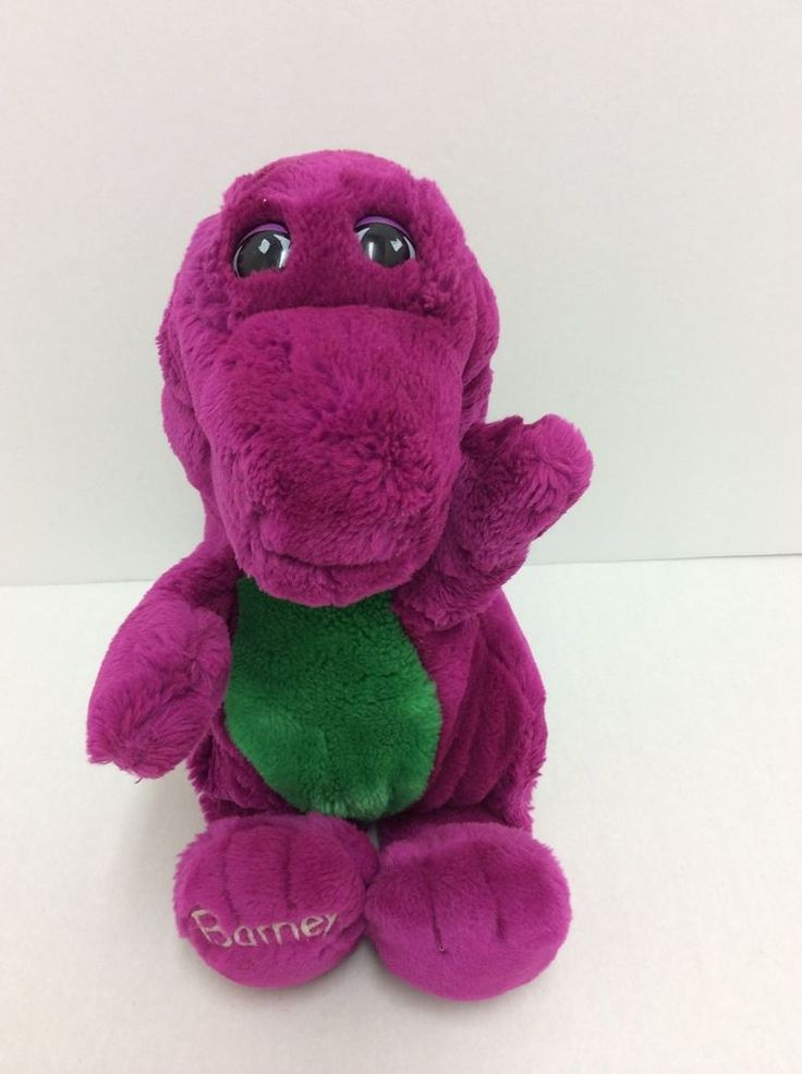 Barney Plush 13 Purple Dinosaur PBS Kids 1992 Lyons Closed Mouth lyons  Looking for a