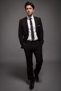 Classic Black Slim Fit Suit for the Groom with white shirt ...