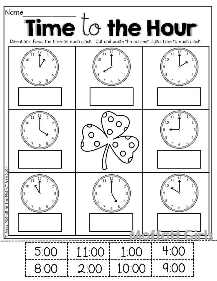 Image Result For Math Worksheets For Grade 1 Telling Time