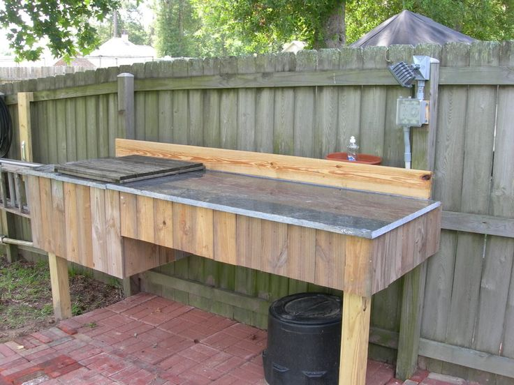 Granite Fish Cleaning Table