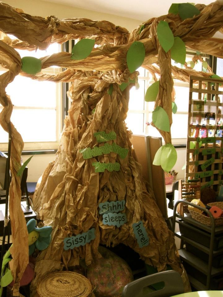 A tree  teepee hideaway  rest area  reading area  at
