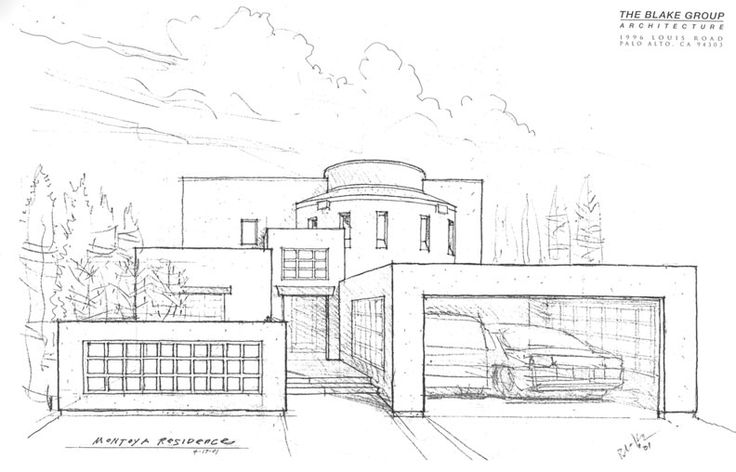 Modern Mansion Drawing #BIGArchitects Pinned by www.modlar