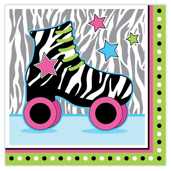 1000+ images about Retro Roller Skate Party Supplies on