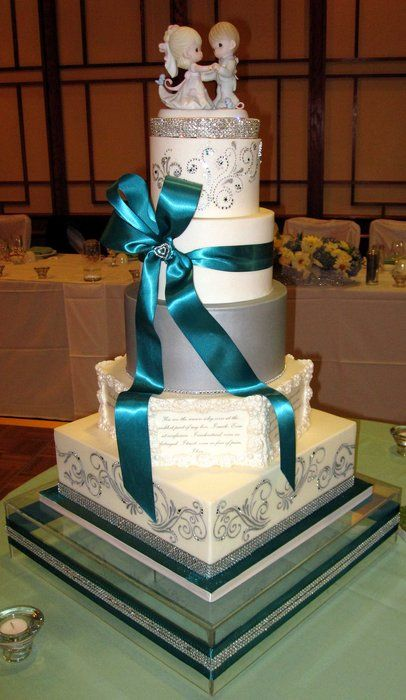 Teal and Silver Wedding Ideas  Silver white and teal
