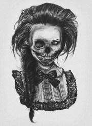 skeleton victorian girl