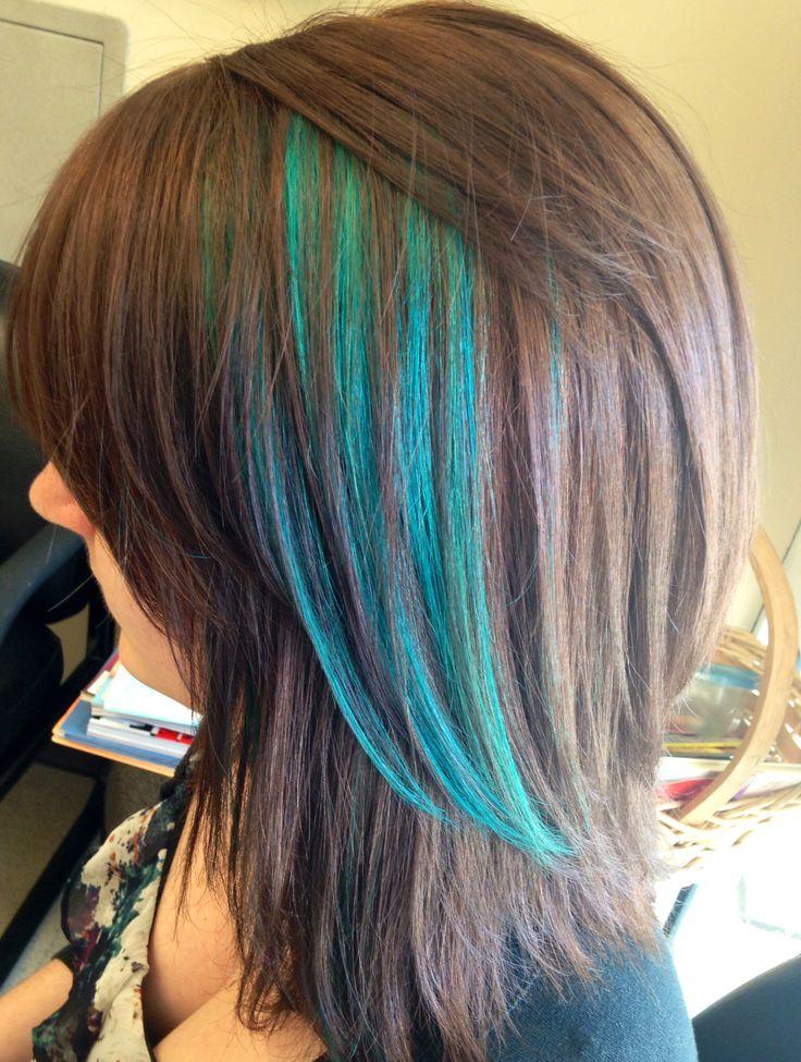 25 Best Ideas About Teal Hair Highlights On Pinterest