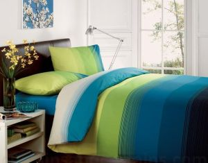 Contemporary Striped Duvet Cover Poly Cotton Bedding Quilt