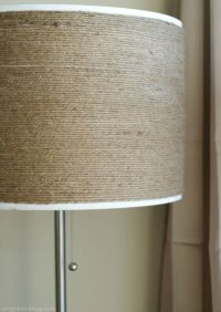 DIY Twine-Wrapped Lampshade | Lampshades, Diy Lampshade ...