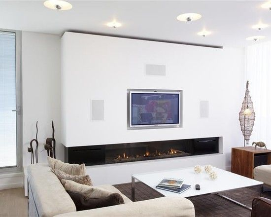 Fireplace Modern Living Room With Awesome Corner Fireplace Gas With Flat Screen Tv Above Also