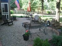 Gravel patio, Pea gravel and Paver edging on Pinterest