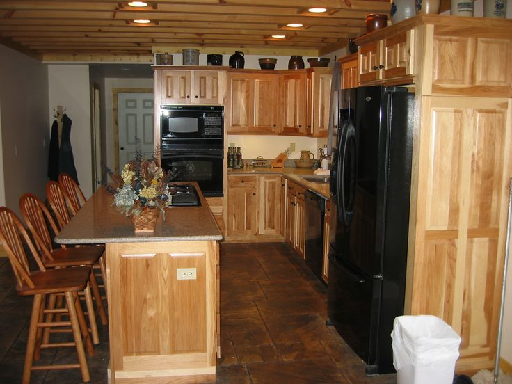rustic hickory kitchen cabinets black slate floor tiles 94 best images on pinterest