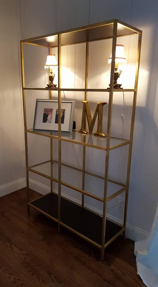 IKEA Vittsjo Shelving Unit 79 Gold spray Paint Rustoleum