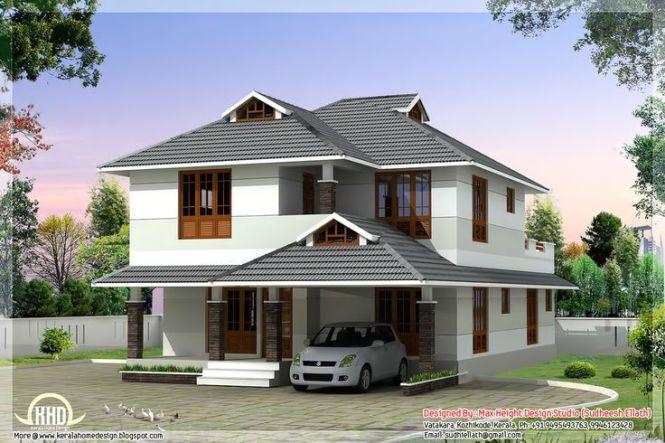 1760 Sq Feet Beautiful 4 Bedroom House Plan Curtains Designs Ideas Kerala Home Kerela Homes Pinterest Plans Design And