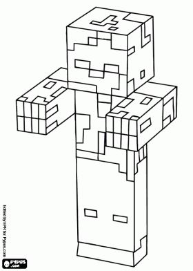 27 best images about minecraft coloring pages on Pinterest