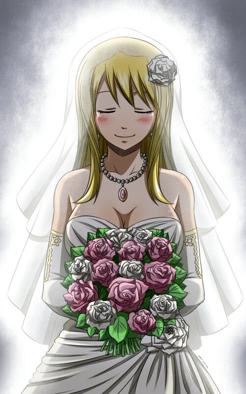 Lucy In Wedding Dress  Lucy Heartfilia  Pinterest