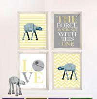 Baby Boy Star Wars Nursery Art- Boy Room Decor - 4 Print ...
