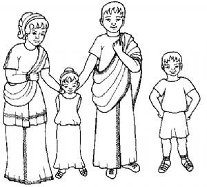 Colouring sheets, Roman and Families on Pinterest