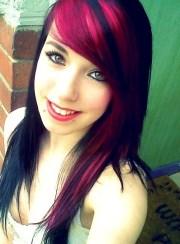 black hair pink