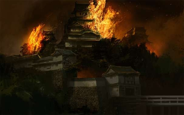 Samurai Girl Wallpaper Hd Higashiyama Temple Burns Karuta カルタ金 Feudal Japan 1185