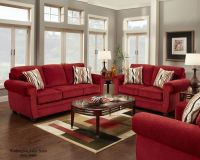 Wall color red couch decorating ideas