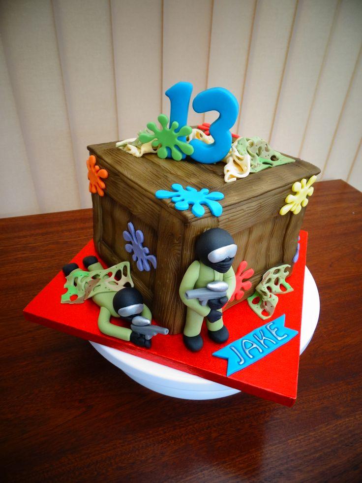 Paintball Theme Cake Xmcx Paintball Pinterest Cakes