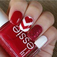 17 Best ideas about Valentine Nail Designs on Pinterest