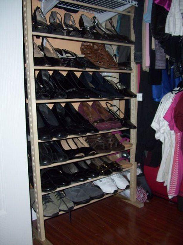 1000 ideas about Vertical Shoe Rack on Pinterest  Shoe Racks Wardrobe Rail and Shoes Organizer