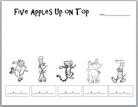 49 best images about Book: Ten Apples Up on Top on