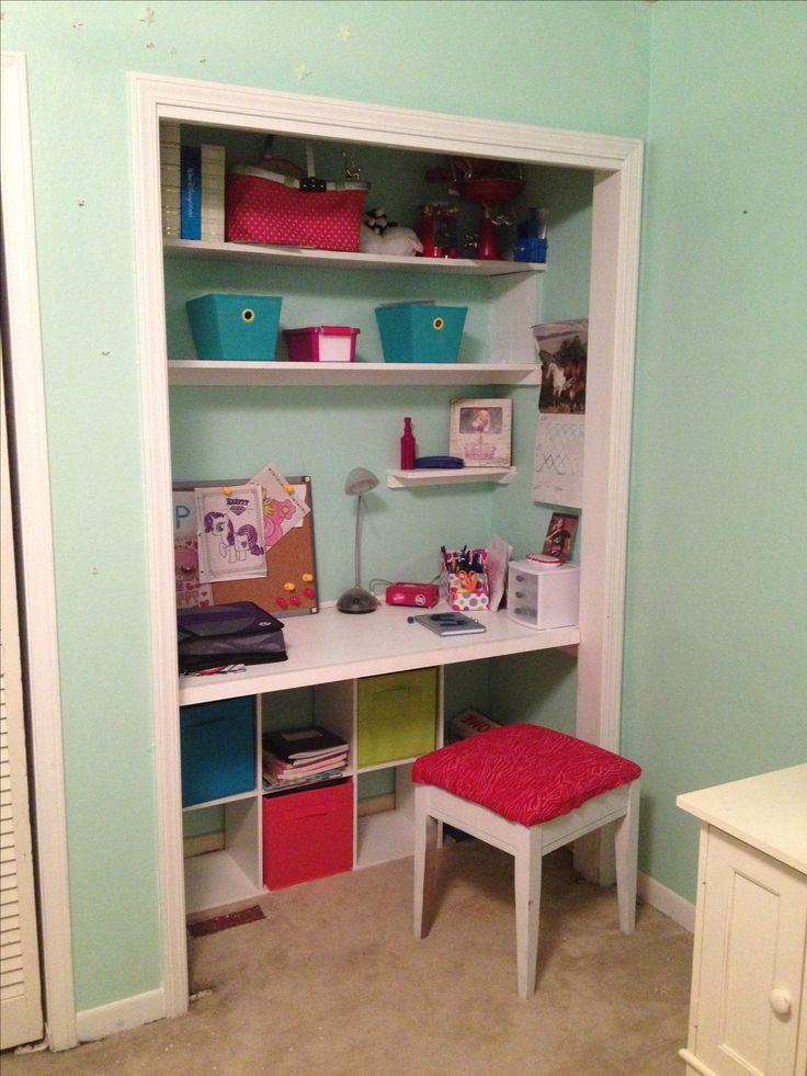 Closet desk for tween  Closets  Pinterest  Extra