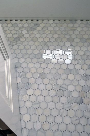 Floor Marble Hex Tile Color Inspiration  Home Ideas