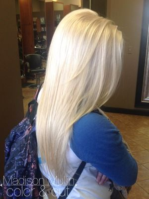 platinum blonde bleach blonde bleach and tone white blonde solid blonde long hair by