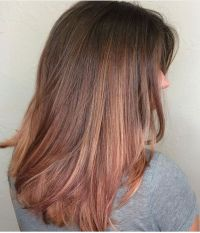Brown And Gold Hair Colour | best 20 rose gold highlights ...