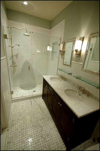 Bathrooms Basketweave Marble Tiles Urban Archaeology