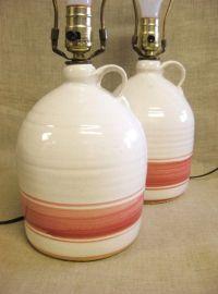 Table Lamps, Bedside Lamps, Ceramic Lamps, Jug Lamp, Pink ...