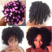 tapered haircut perm rod set