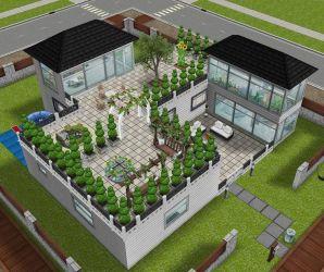 sims freeplay garden instagram houses casas gardening terrace modern
