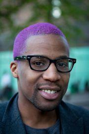 purple hair #man dude alternative