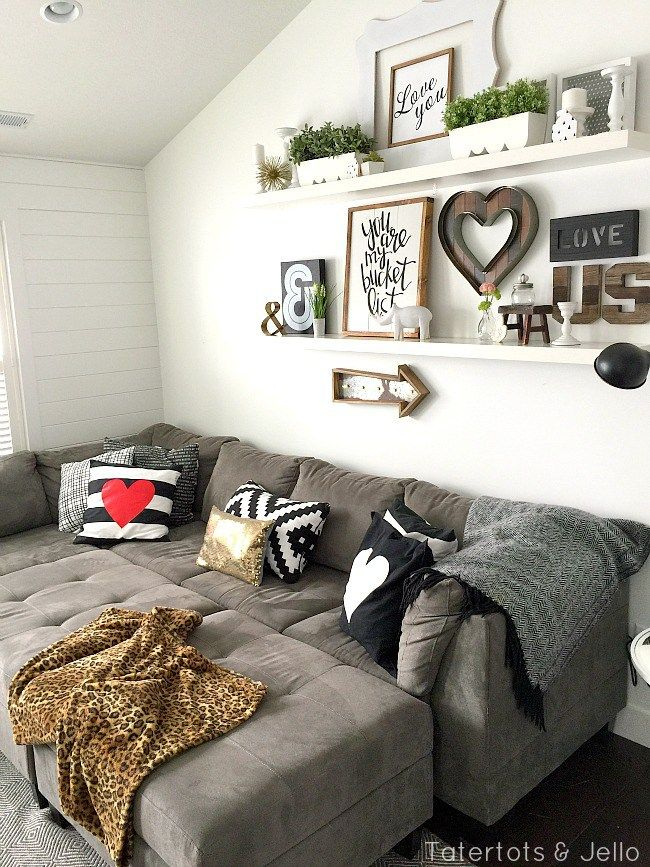 decorate living room with black couch home decor for 25+ best ideas about gallery wall shelves on pinterest ...