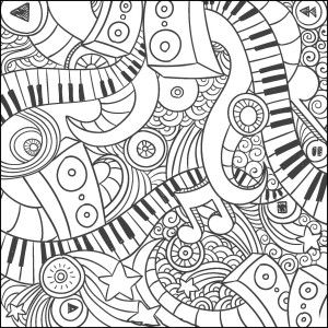 17 Best images about Music Coloring Pages for Adults on